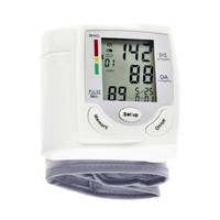 New Portable Digital LCD Display Wrist Blood Pressure Monitor Heart Beat Rate Pulse Meter Tonometer Sphygmomanometers