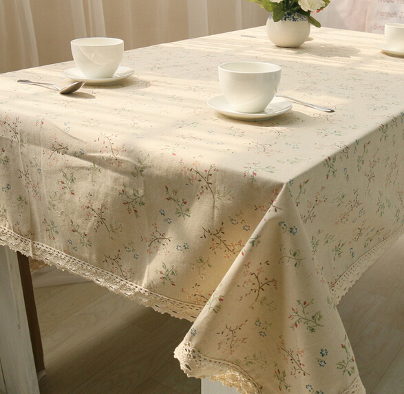 Fashion New Tablecloth Lace Linen Tablecloth End Table Cloth Kitchen Dining Table  Cloth Party Tablecloth Free