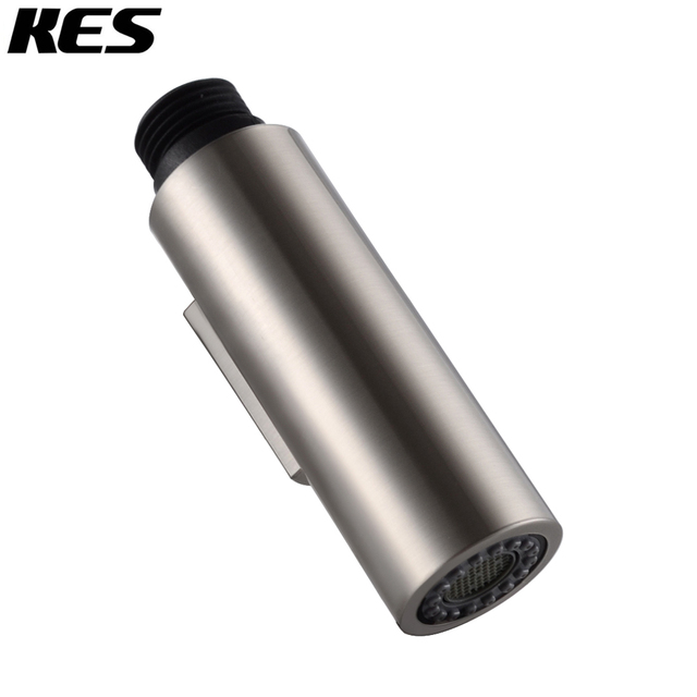 Us 7 99 Kes Bathroom Kitchen Faucet Pull Out Spray Head Universal Replacement Part Sus304 Stainless Steel Abs Chrome Brushed In Shower Heads From