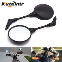 Nuoxintr Black Motorcycle Mirrors Custom Folding Side Universal Moto Rearview Mirror For Honda Suzuki Yamaha ATV Accessories
