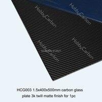 Kohlenstoffarmen Glas köper matte platte/board Freies verschiffen durch hk-pfosten + 1,5X400X500mm carbon glas blatt