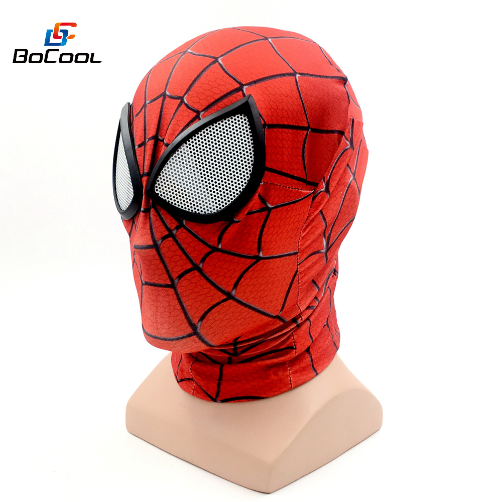 3D Digital Print Spiderman Mask Halloween Superhero Venom Cosplay Mask Prop Spider-Man:Homecoming Party Mask Costume