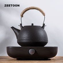 220V Electronic Tea Stove Heater Japanese Coarse Pottery Teapot Set Warmer Electric Heaters Kit for Coffee Cup Mug Teacup Kettle