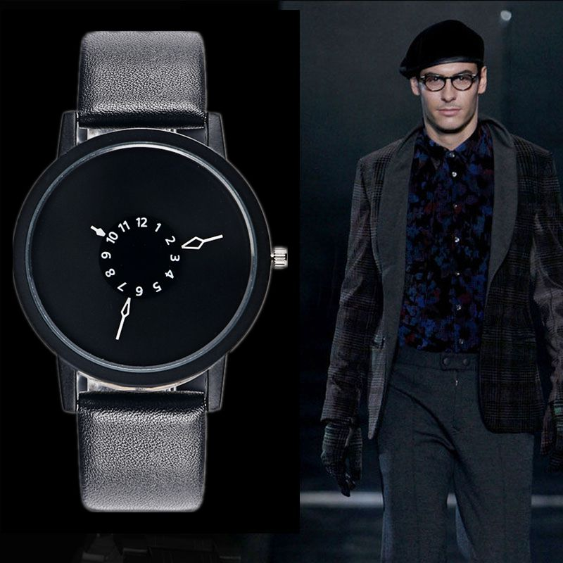 Leather Watch Women dress watches hour clock men fash %