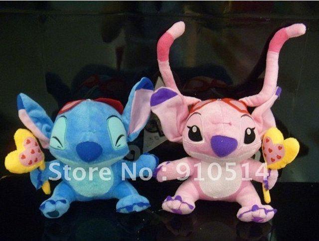Free shipping 50pcs/lot wholesale 16cm soft air balloon Lilo & Stitch sam plush stuff toys christmas gift