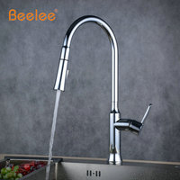 Beelee Best Quality Wholesale And Retail Kitchen Faucet Chrome Kitchen Taps Spring Style Rotatable Grifo Pull