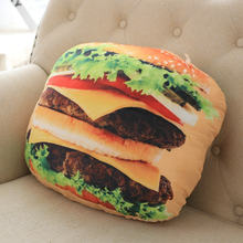 Children's Day Birthday Gift Doll Hamburger Sleeping Cushion Pillow Kids Soft Food Hamburgers Simulation Toys Dance Props(China)