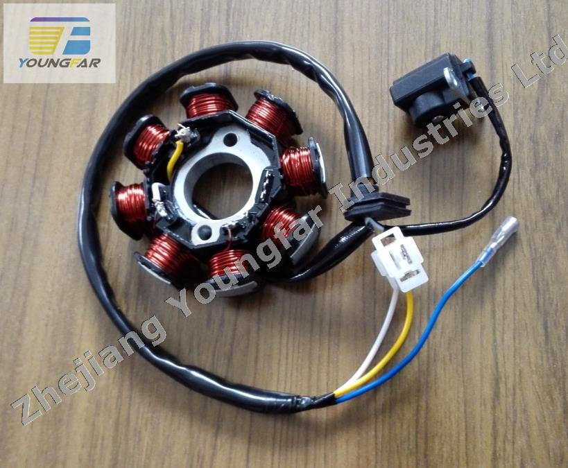 compare prices on magneto stator online shopping buy low price scooter moped atv go kart 139qmb gy6 50 60 80 cc 8 pole 3 wires dc