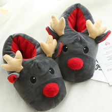 Christmas slippers women comfortable plush winter slippers for home non-slip warm slipper woman fashion funny slippers winter cartoon indoor warm plush santa slippers women men children s christmas style home slipper fit christmas gifts