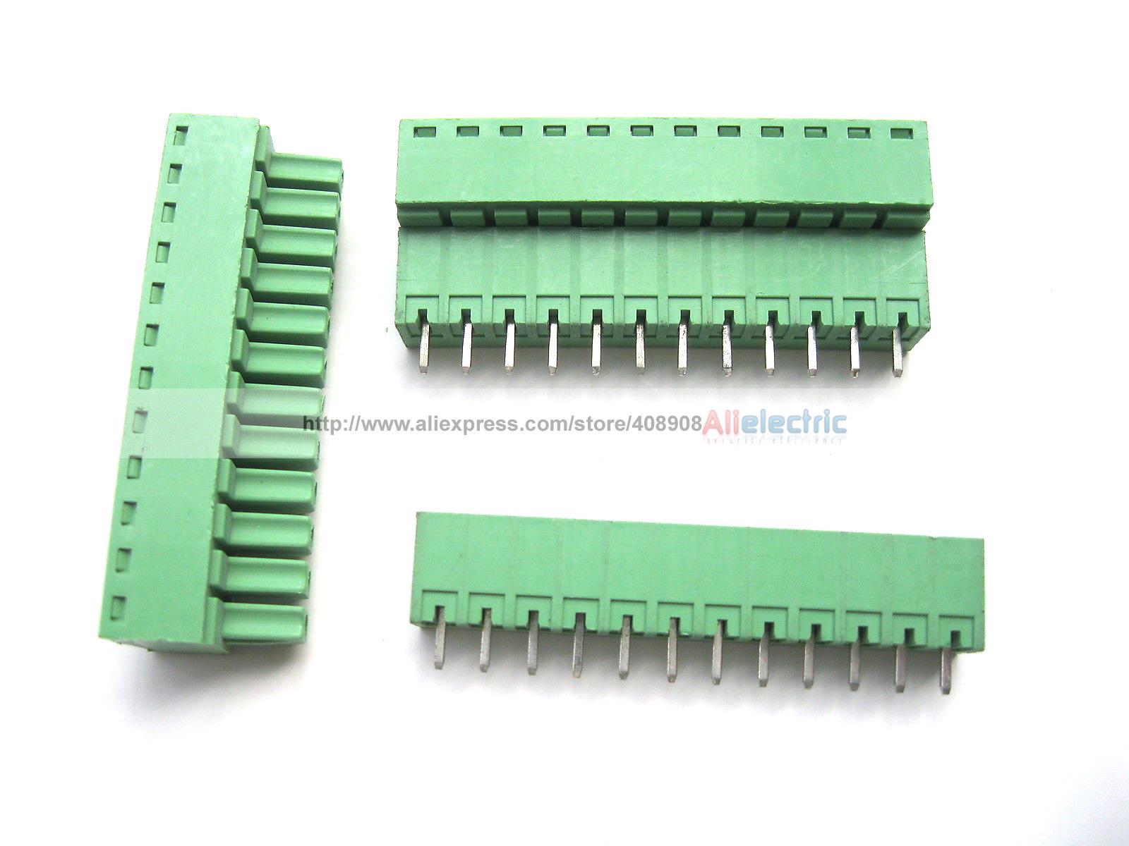 12 Pcs Screw Terminal Block Connector 3.5mm 12 Pin Green Pluggable Type 50 pcs 5 08mm angle 8 pin screw terminal block connector pluggable type green