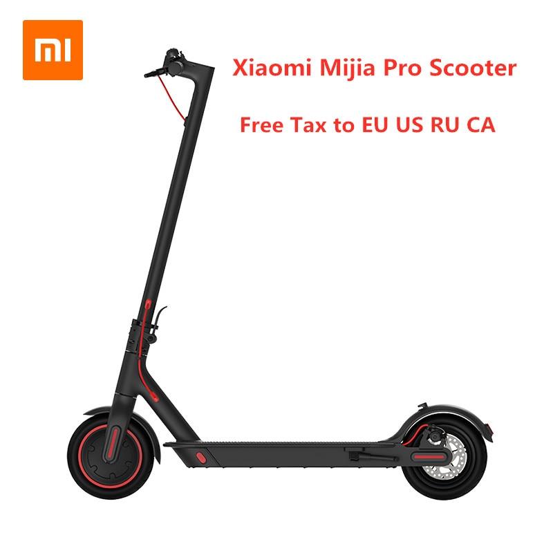 La UE de 2019 nuevo Original Xiaomi Mijia Pro Smart Scooter Eléctrico plegable Hoverboard Skate de KickScooter Mini dos ruedas