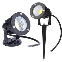 Garden Spot Light Led COB 3W 5W IP65 Outdoor Garden Led Spot Light 12V 110V 220V Led Garden Spike Light for Garden Free Shipping(China)