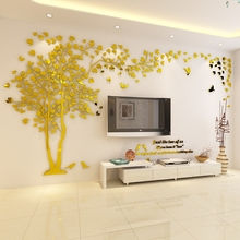 2019 NEW Style Lovers Tree Wall Stickers Living Room Sofa Backgroud 3D Acrylic Crystal Sticker DIY Home Art Decor