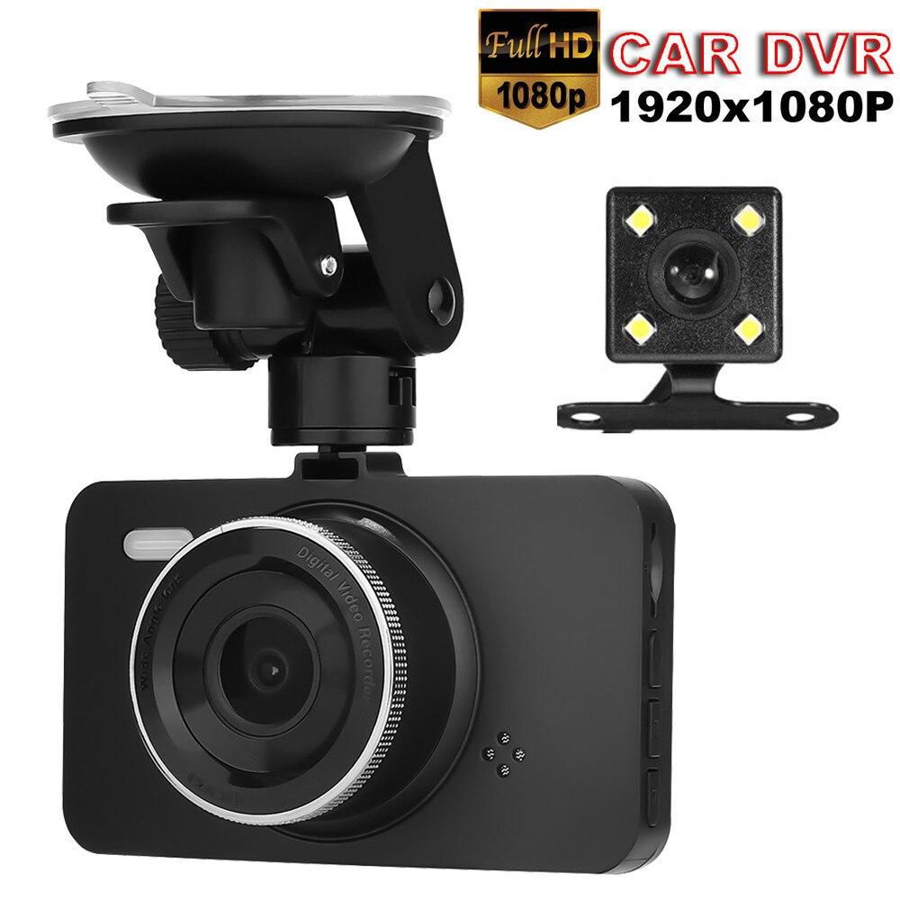 2019 New Hot Sale Arival 4 IPS LCD Dual Lens Car Dashboard Cam 1080 P FHD Dashboard Camera 170 Driving DVR Car Lente 3.11