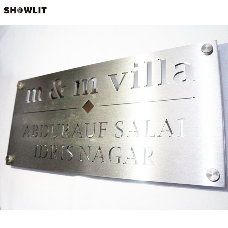 Two Layers Modern Style Law Office Signs In Brushed Stainless SteelTwo Layers Modern Style Law Office Signs In Brushed Stainless Steel