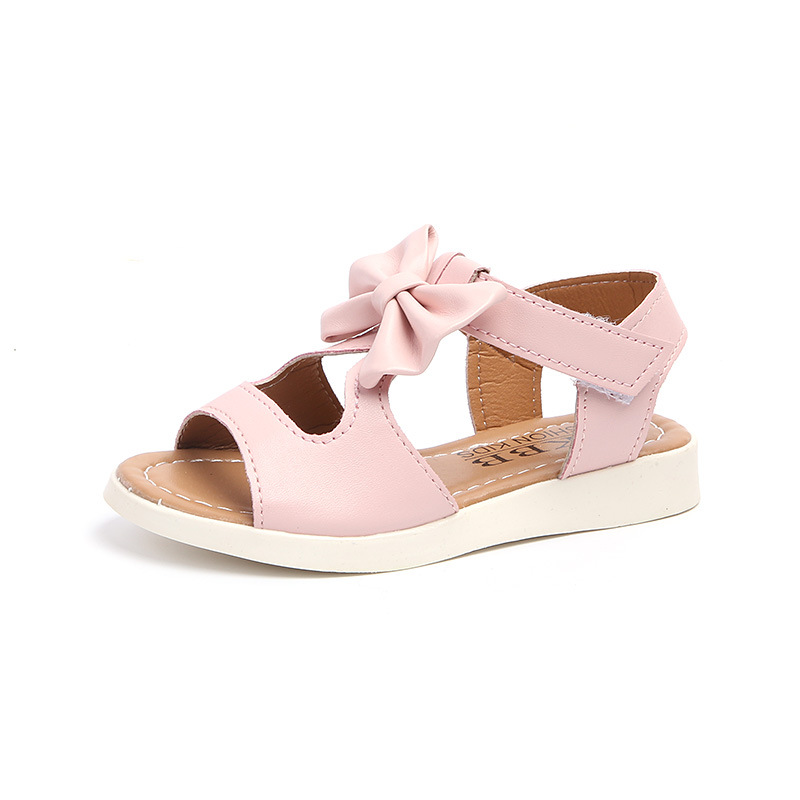 girls butterfly sandals 2018 new summer spring Beach soft pu shoes flowers princess shoes size 21-30