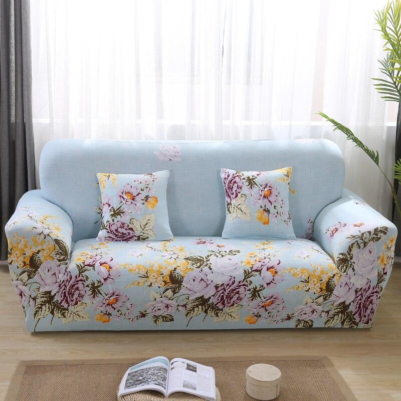 Floral Print Elastic Sofa Cover Stretch Universal Sofa