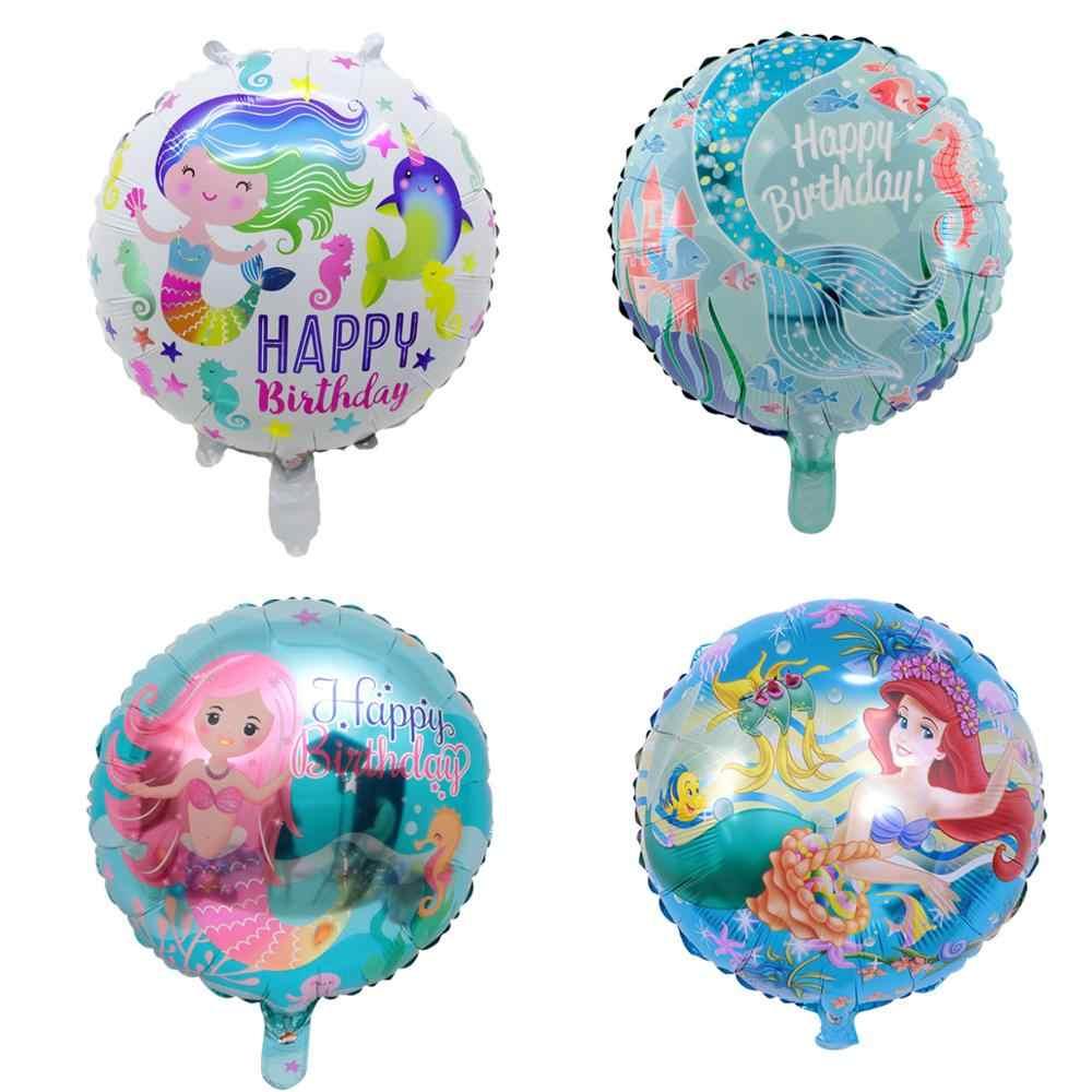 18 นิ้วไดโนเสาร์ Flamingo Mermaid Unicorn Foil บอลลูน Air globos ฮีเลียมเด็กบอลลูน Happy Birthday PARTY อุปกรณ์ตกแต่ง