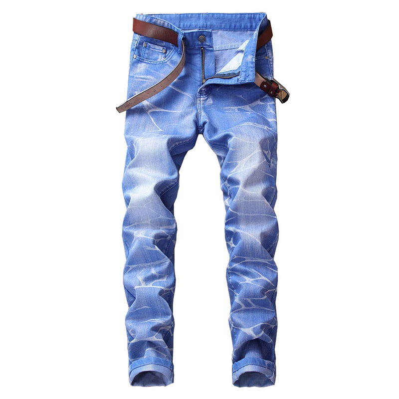 MoneRffi 2019 New Fashion Boutique Stretch Casual Mens Jeans Men Straight Mens Denim Jeans / Male Stretch Trouser Pants(China)