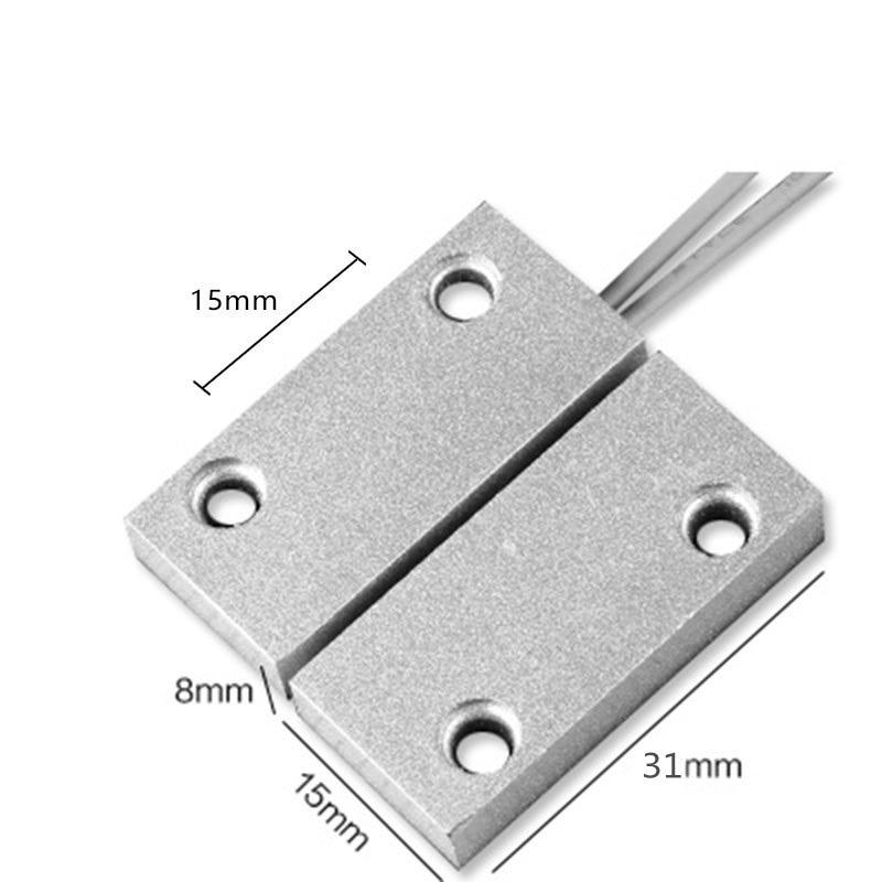 NC Mode Waterproof Aluminum Alloy Wired Door Window Sensor Magnetic Switch Sensor For Alarm System