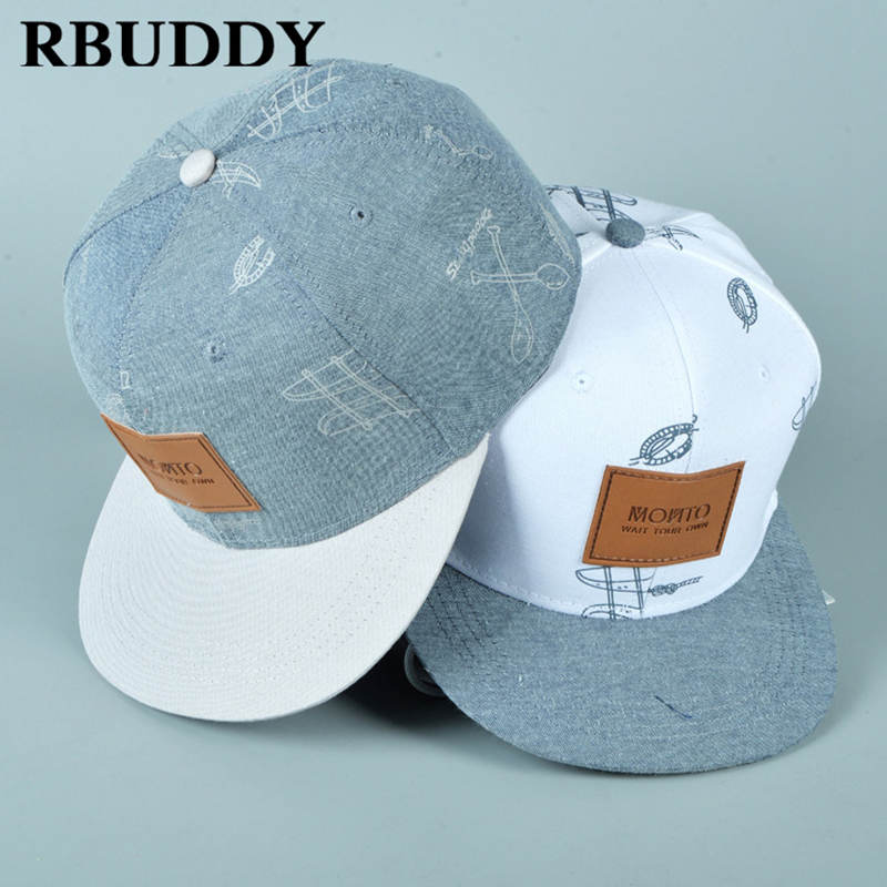 RBUDDY 3D Straight Visor Baseball Caps New York Hip Pop Streetwear Snapback  Trucker Dad Hat for dd0eec13762