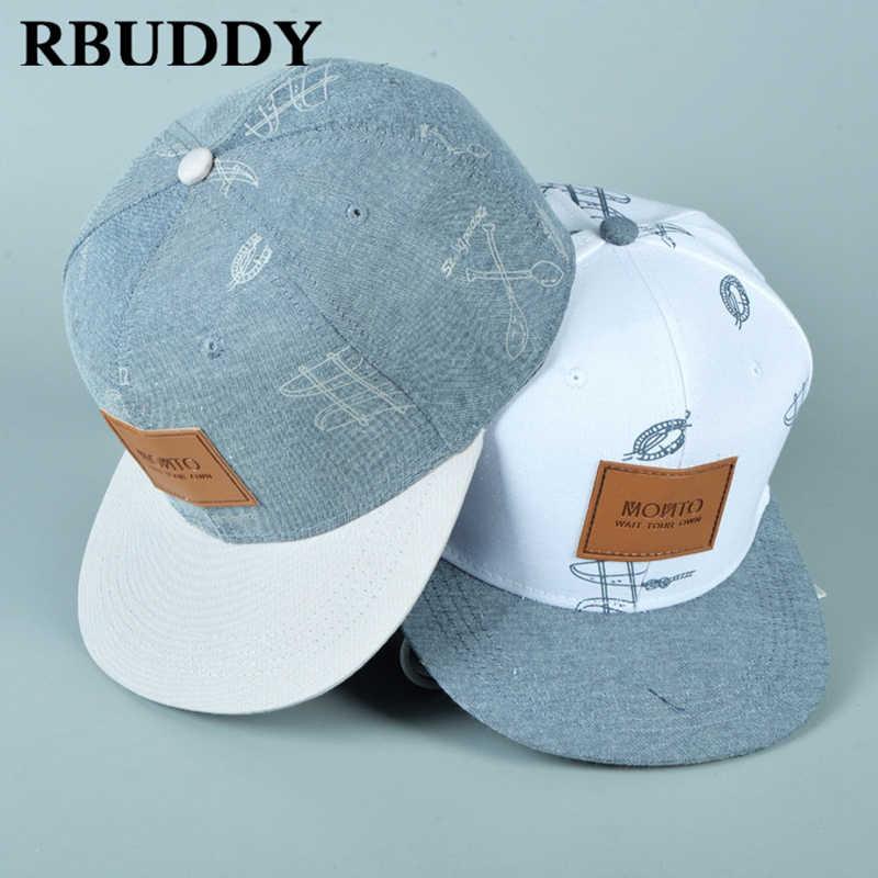 RBUDDY 3D Straight Visor Baseball Caps New York Hip Pop Streetwear Snapback  Trucker Dad Hat for 02703f76212f