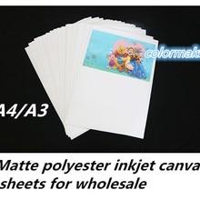 A4/A3 размер высокого качества пустой полиэстер холст для цифровой печати