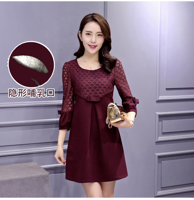 71e5385b2f9ea Summer Maternity Breast Feeding Dresses Nursing Tees Pregnancy Lactation  Clothes for Pregnant Women Breastfeeding Clothing B11
