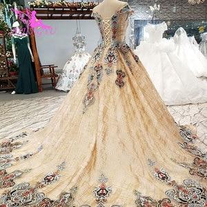 Image 2 - Aijingyu 웨딩 드레스 스페인 가운 플러스 bridle 고딕 통관 신부 및 가격 가운 웨딩 긴 소매 진짜 사진