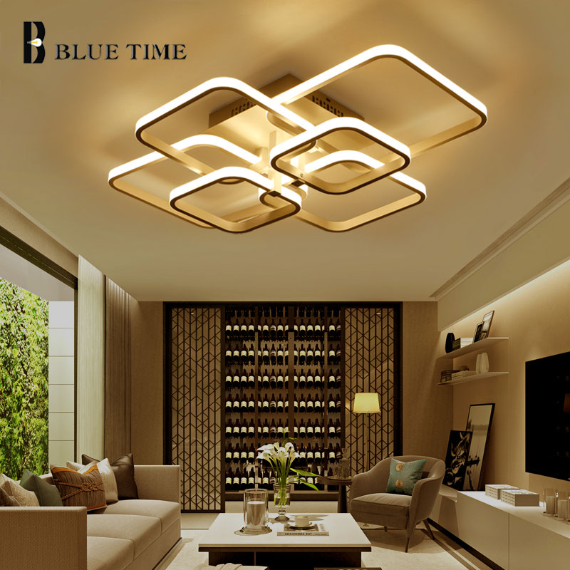 Venda quente moderno luzes do candelabro para sala de estar quarto branco terminado lustres led casa luminárias AC85-260V ..