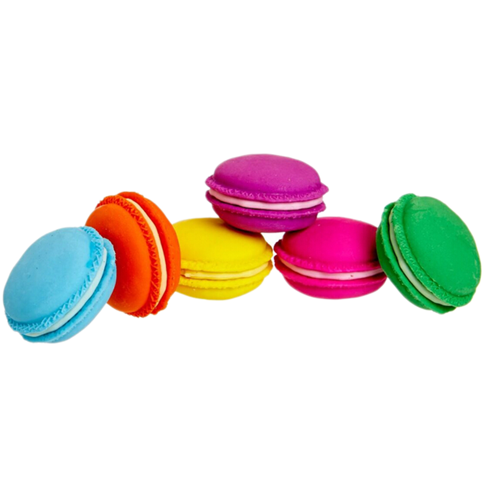 5Pcs/lot Novelty Macaron Rubber Eraser Creative Kawaii Stationery School Supplies Gift For Kids