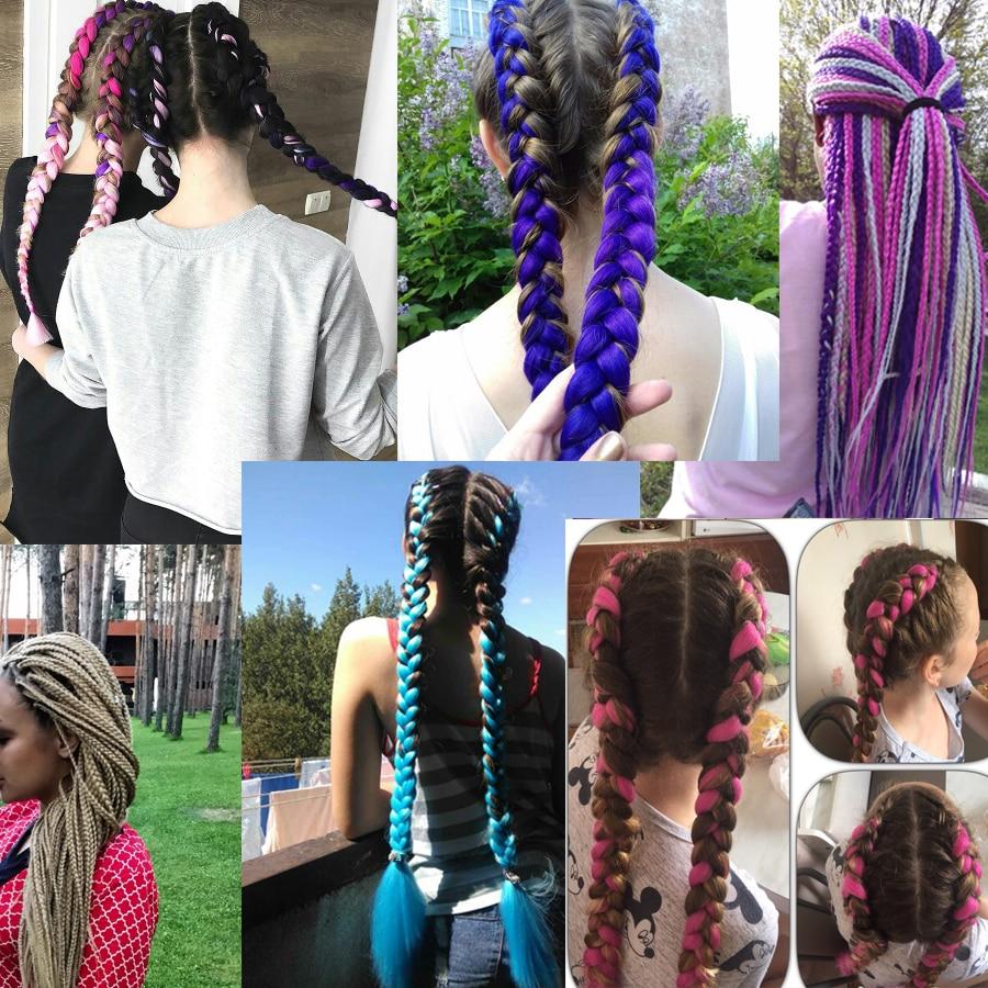 VERVES Плетение волос одна часть 82 дюйма - Синтетические волосы - Фотография 5