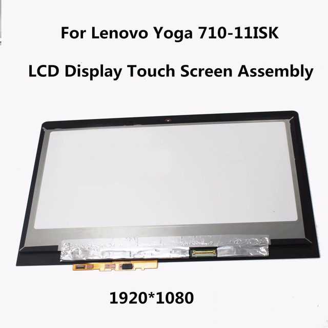 "11.6"" LED EDGE IPS LCD Display Digitizer Touch Screen Glass Panel Assembly For Lenovo Yoga 710-11ISK N116HSE-EBC Without Frame"