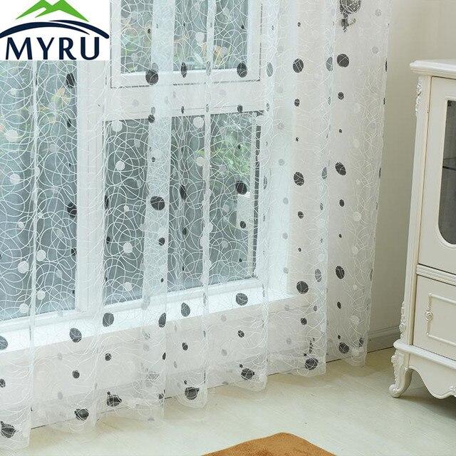 € 8.11  MYRU 2017 Nouveau nid d\'oiseau moderne fenêtre voilage pour cuisine  salon la chambre terminé stores tulle pour windows tissu dans Rideaux de ...