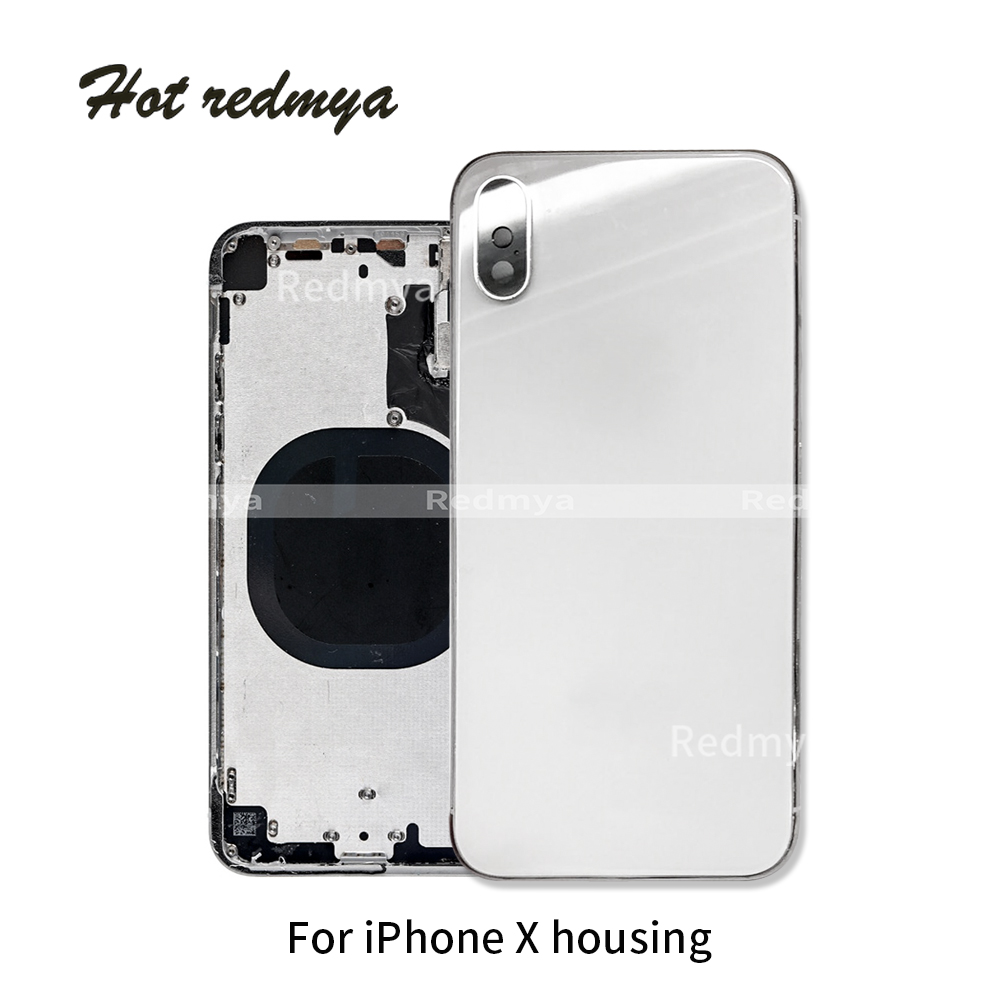 Battery Back Cove For iPhone X Ten 5.8 Battery Back Housing Cover Rear Door Chassis Frame Whit Button Back Cover Assembly PartsBattery Back Cove For iPhone X Ten 5.8 Battery Back Housing Cover Rear Door Chassis Frame Whit Button Back Cover Assembly Parts