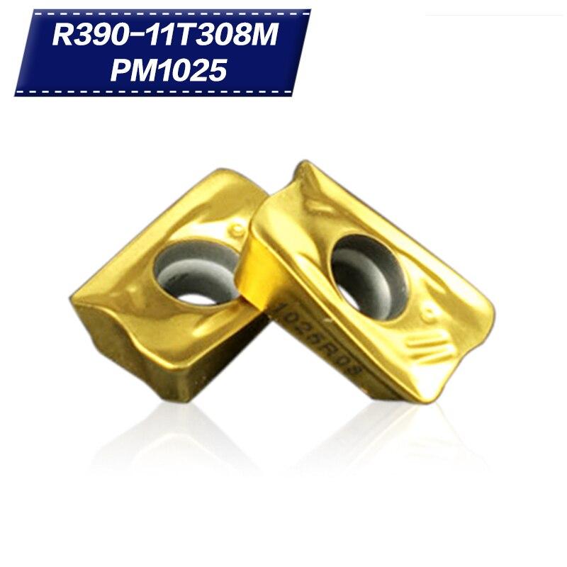 SWIS 10PCS R390 11T308M PM1030 PM1025 PM4240 Carbide Insert Face Milling Cutting CNC Tools Lathe Tools