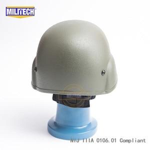 Image 4 - Militech OD Oliver Drab PASGT NIJ IIIA 3Aเต็มรูปแบบBallistic Bulletproof Aramid Bullet Proofหมวกกันน็อกLabการทดสอบวิดีโอ
