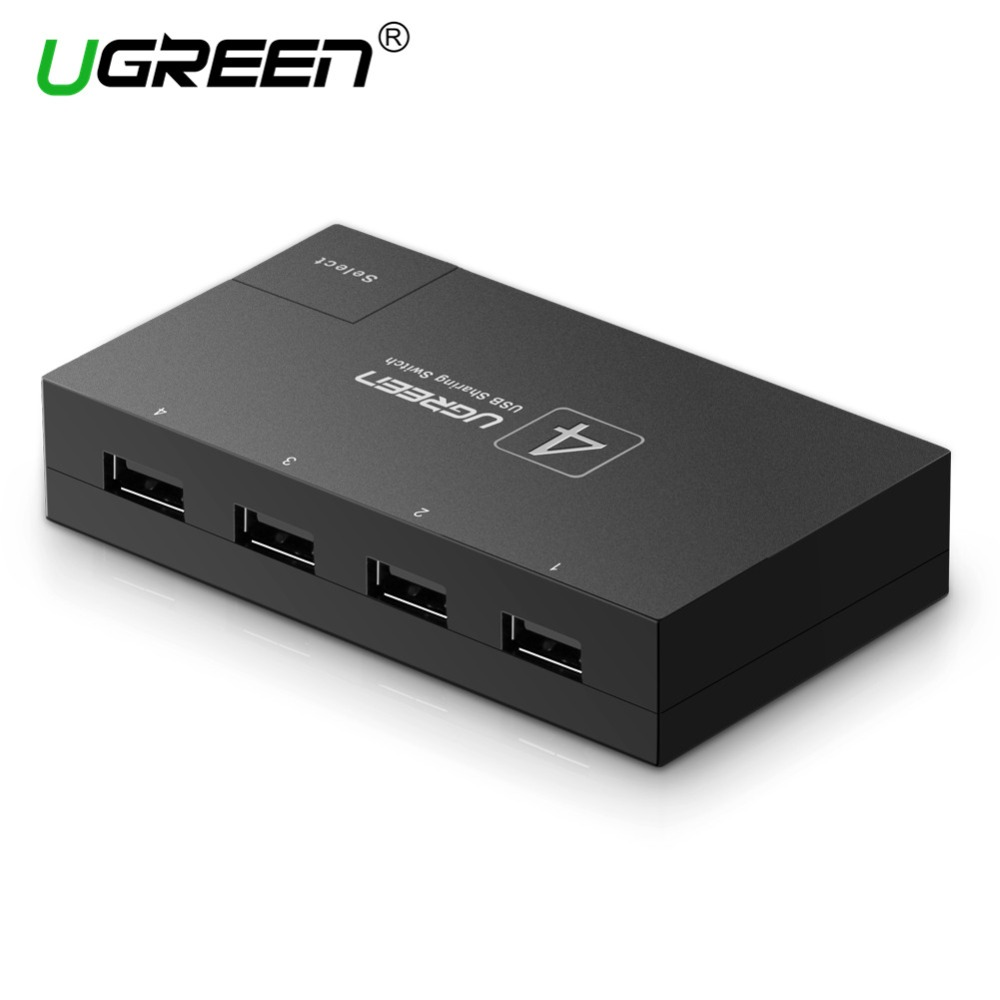 Ugreen KVM SWITCH USB Dispositivo di Condivisione Switcher 4/2 Pc Condividono 1 4/2 Port KVM Selettore per la Tastiera Stampante Monitor USB KVM SWITCH