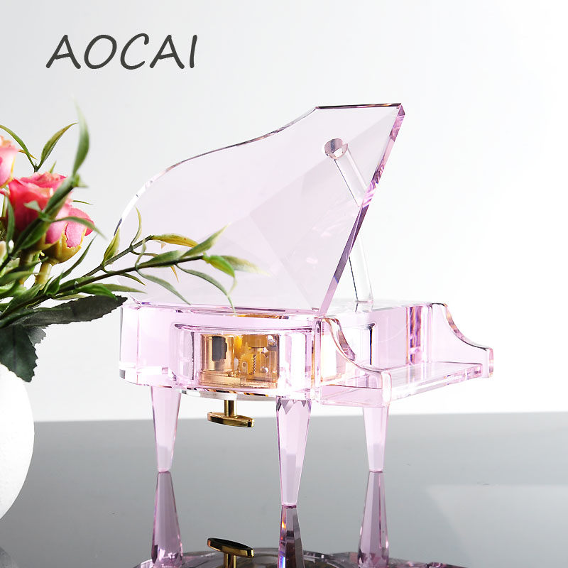 comprar nuevo multicolor de piano de cristal adultos y nios creativos adornos de cumpleaos de recuerdos decoracin de piano de