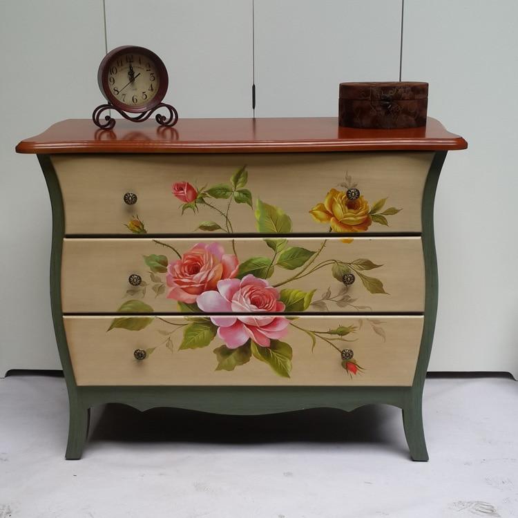europea del arte pintado a mano muebles r sticos apenada
