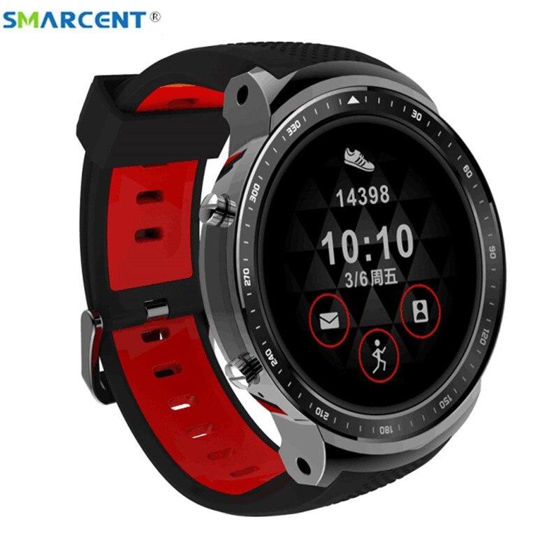 Montre intelligente sport Smarcent 3G X300 Bluetooth WiFi Android 5.1 traqueur de remise en forme 1 GB + 16G montre intelligente de taux de Beart PK S3 kw88 kw99