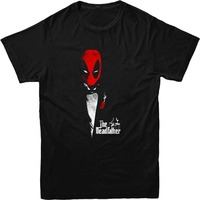Deadpool T-Shirt, Godfather Spoof T-Shirt Inspired Design Top New High Quality 2019 Short Sleeves Cotton Funny Cotton Tee
