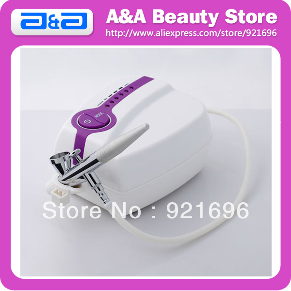 ФОТО Portable Makeup Airbrush Set Mini Air Compressor with Spray Gun kit 5 Speed Airbrush tattoos cake bakery 24h Working