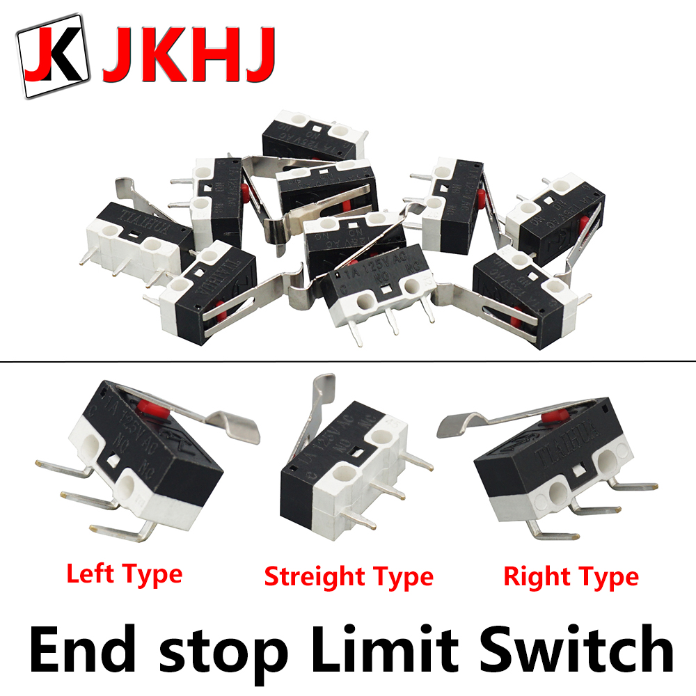 3D Printer Parts 10pcs/lot End stop Micro Limit Switch for I3 Delta Kossel Makerbot Printer RAMPS 1.4 DIY Accessories(China)