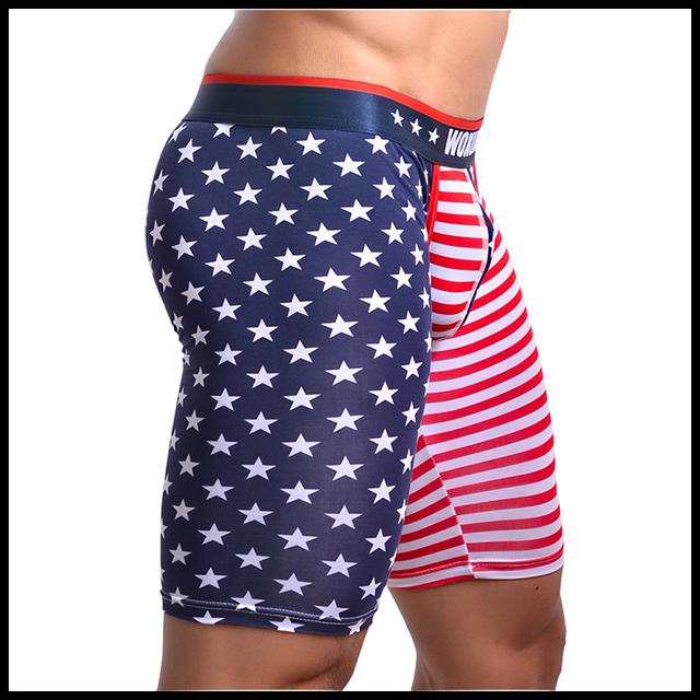 Man Trousers/Men Lounge Pants/American Flag Print Male Cotton Spandex Pajama Bottoms/Gay Sexy Sleeping Leggings