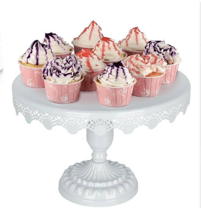 Mariage 10/12 pouces gâteau Stands blanc rond Cupcake gâteau décoration vaisselle cuisson Dessert magasin alimentaire plateau assiettes