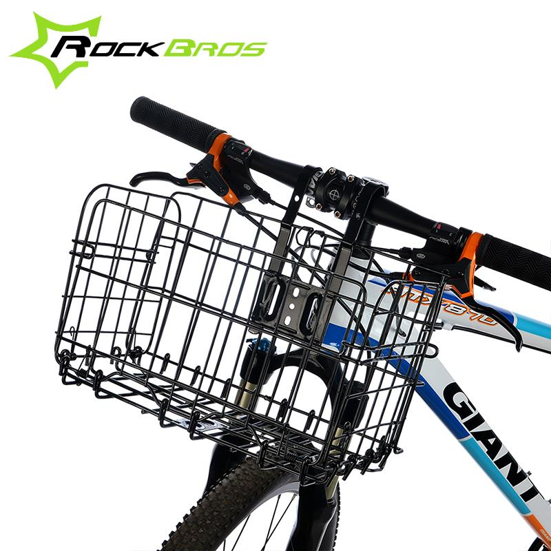 Qian Rockbros Ride Bicycle Basket Cycling Front Foldable