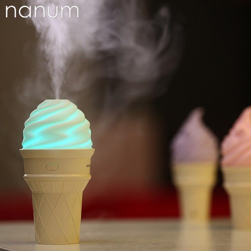 Новый мороженое ультразвуковой увлажнитель воздуха, мини-USB Fogger светодиодный Очиститель Ароматерапия эфирное масло диффузор освежитель во…