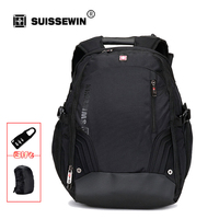 Laptop Backpack Bag Black Brand Male Computer Backpack For Business Travel Swisswin Big Capacity Bagpack Men