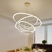 Circel Rings modern led pendant lights for dining living room acrylic cerchio anello lampadario lamp lamparas modernas